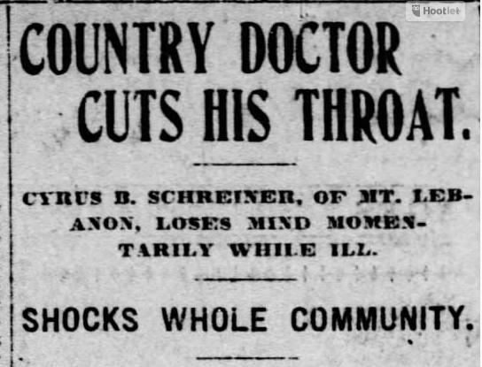 STROUP_Dr. Schreiner clipping
